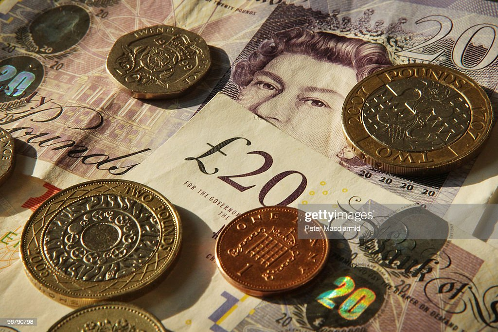 In this photo illustration Sterling notes and coins are displayed together on February 17 2010 in London England As the UK gears up for one of the...