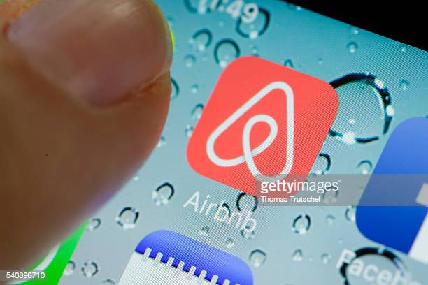 In this photo illustration the app of Airbnb is displayed on a smartphone on June 17 2016 in Berlin Germany