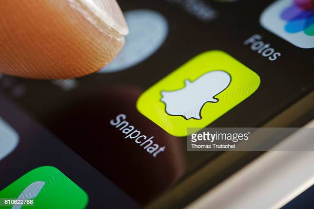 In this photo illustration the app of Snapchat is displayed on a smartphone on September 27 2016 in Berlin Germany