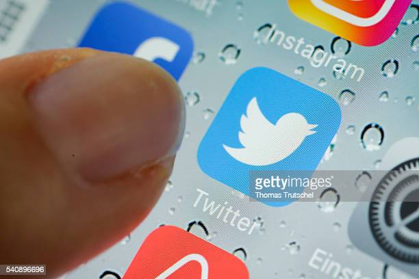 In this photo illustration the app of Twitter is displayed on a smartphone on June 17 2016 in Berlin Germany