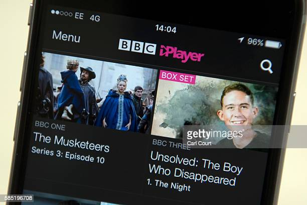 In this photo illustration the BBC iPlayer app is displayed on an iPhone on August 2 2016 in London England The BBC has announced that iPlayer users...