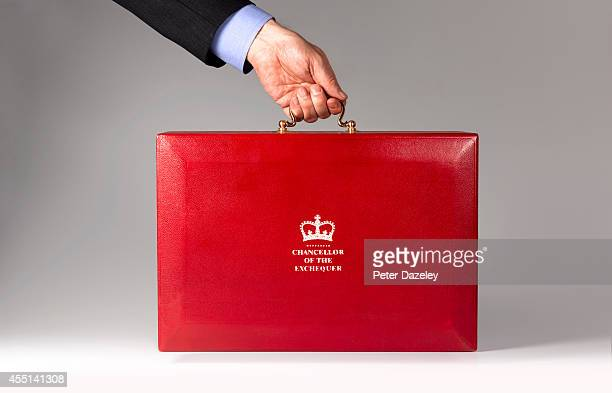 In this photo illustration the Chancellor of the Exchequer's budget red box/ministerial case is shown on August 2014 in London