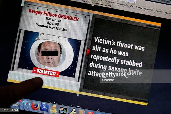 In this photo illustration the Europol website is displayed on a laptop screen on December 02 2016 in Paris France Every day until Christmas the...