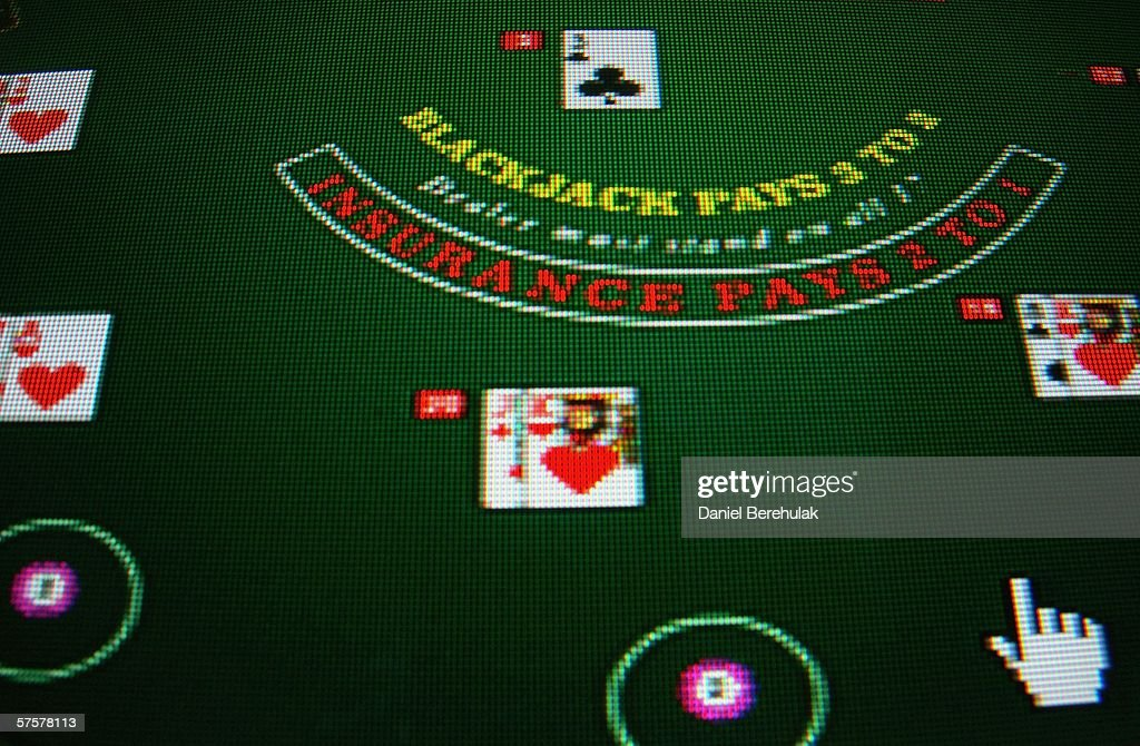 In this photo illustration the homepage of an online gambling company is displayed on a computer screen on May 10, 2006 in London, England.