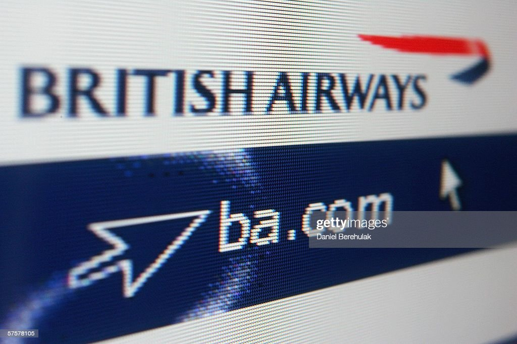 In this photo illustration the homepage of British Airways is displayed on a computer screen on May 10, 2006 in London, England.