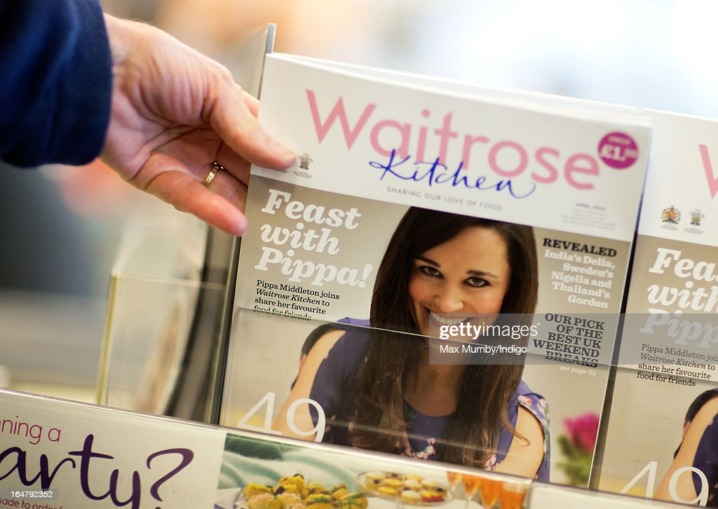 In this photo illustration the latest edition of Waitrose Kitchen Magazine, featuring Pippa Middleton on the cover, is seen by the tills in a Waitrose store on March 28, 2013 in Horley, England. Pippa Middleton, sister of Catherine, Duchess of Cambridge is writing a monthly column for the magazine featuring casual dining ideas and recipes.