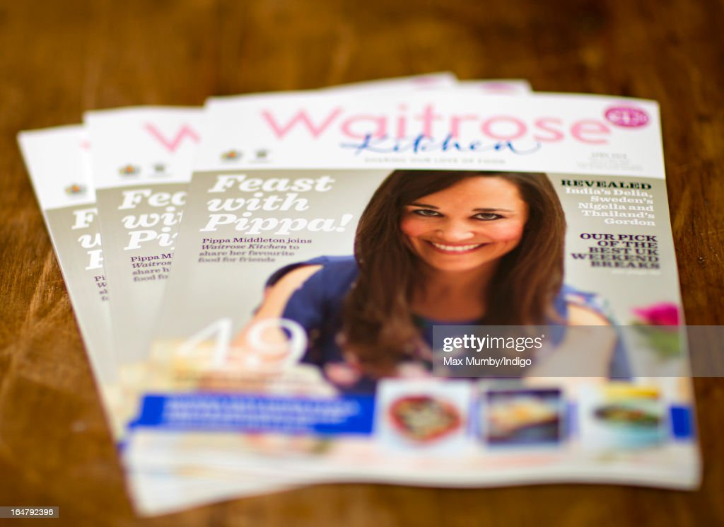 In this photo illustration the latest edition of Waitrose Kitchen Magazine featuring Pippa Middleton on the cover is pictured on March 28, 2013 in Redhill, England. Pippa Middleton, sister of Catherine, Duchess of Cambridge is writing a monthly column for the magazine featuring casual dining ideas and recipes.