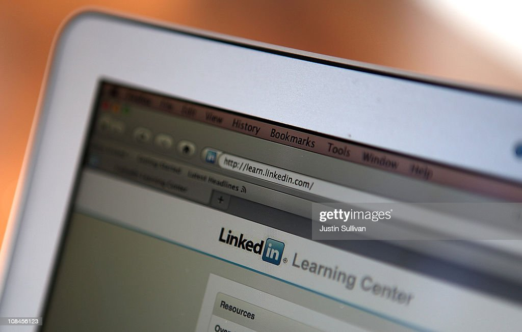 In this photo illustration, the LinkedIn logo is displayed on the screen of a laptop computer on January 27, 2011 in San Anselmo, California. Social networking internet site LinkedIn Corp. filed documents with the U.S. regulators for an initial public offering.