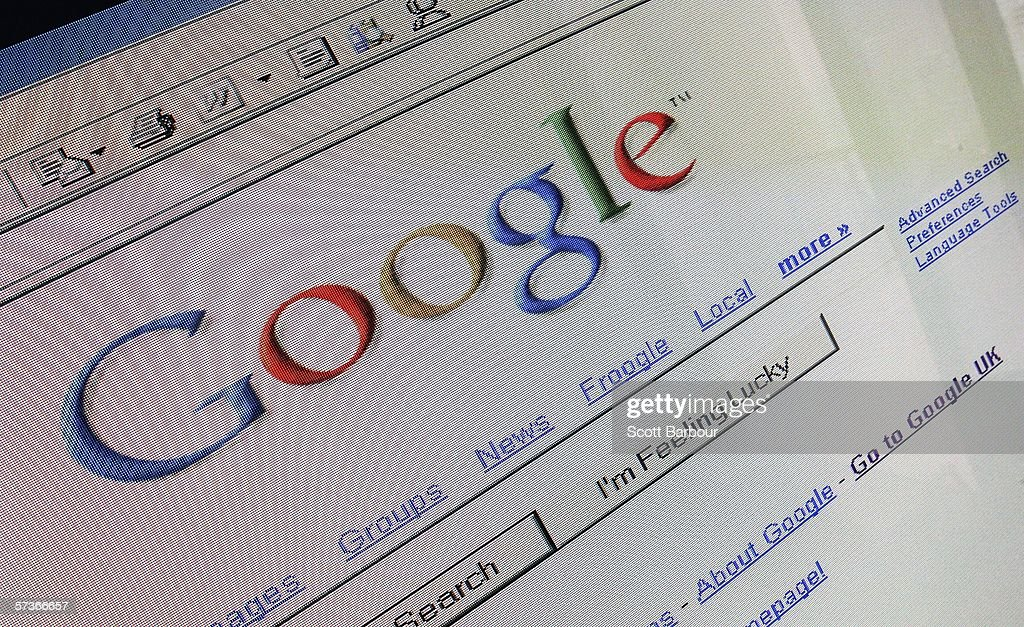In this photo illustration the logo and search page of the multifacetted internet giant Google is displayed on a computer screen on April 13 2006 in...