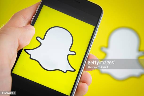 In this photo illustration the logo of Snapchat is displayed on a smartphone on September 27 2016 in Berlin Germany