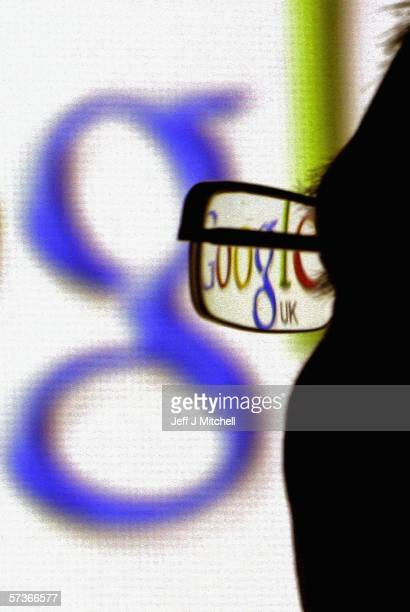 In this photo illustration the logo of the multifacetted internet giant Google is seen through a pair of glasses on April 12 in Glasgow Scotland