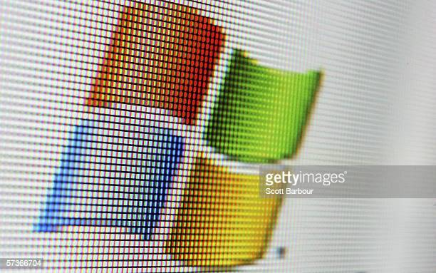 In this photo illustration the logo of the multifacetted internet giant Microsoft is displayed on a computer screen on April 13 2006 in London England