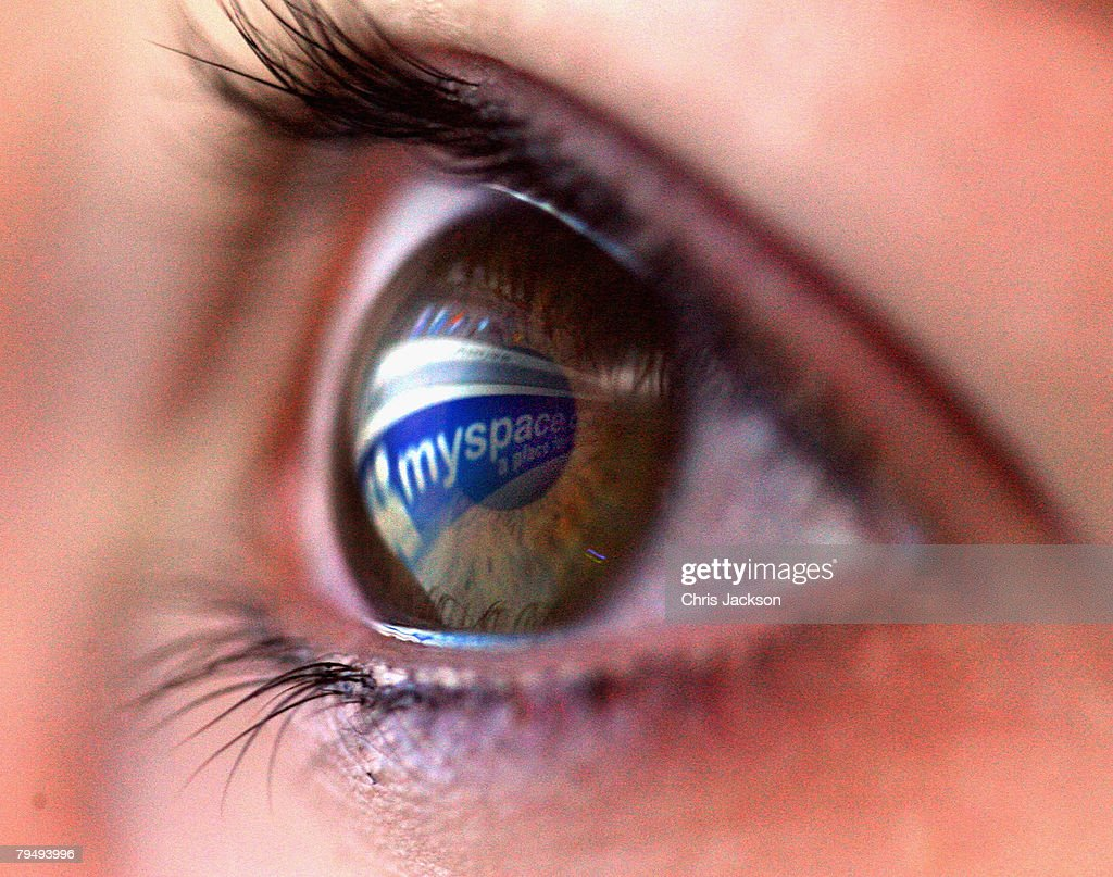 In this photo illustration the myspace logo is reflected in the eye of a girl on February 3, 2008 in London, England. Financial experts continue to evaluate the recent Microsoft $44.6 billion (?22.4 billion) offer for Yahoo and the possible impact on Internet market currently dominated by Google.