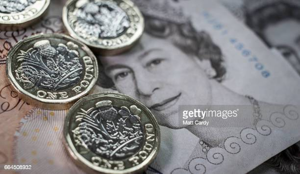 In this photo illustration the new £1 pound coin is seen on April 4 2017 in Bath England Currency experts have warned that as the uncertainty...