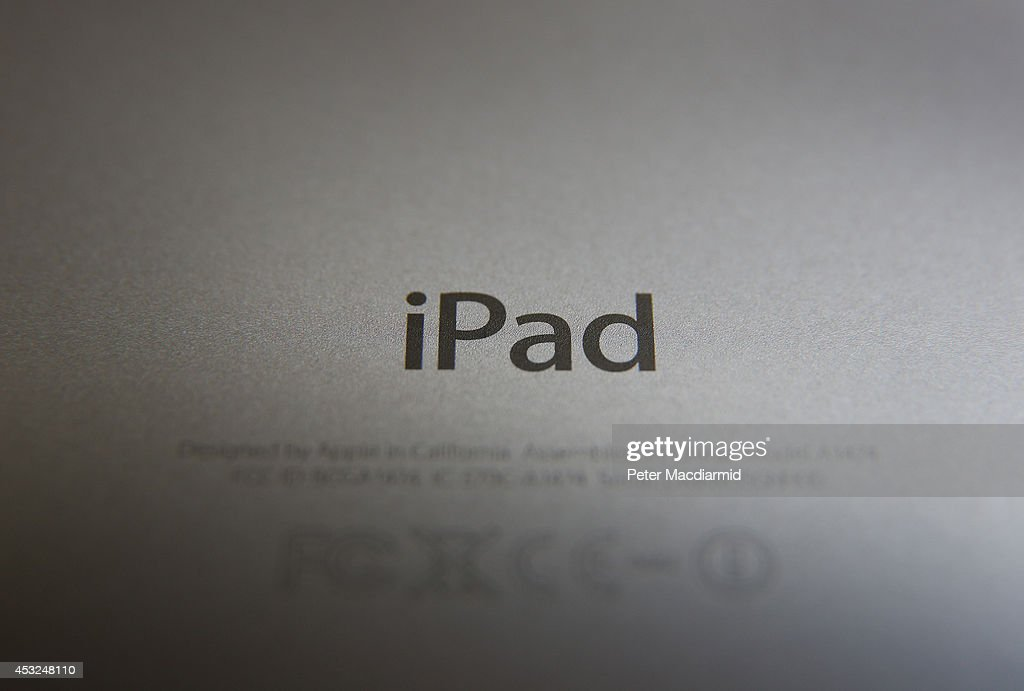 In this photo illustration the rear of an Apple iPad is seen on August 6, 2014 in London, England. iPad maker Apple is selling fewer units than in the same quarter in 2013, it is reported.