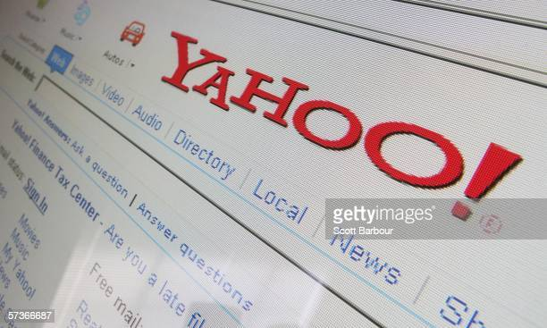 In this photo illustration the search page of the multifacetted internet giant Yahoo is displayed on a computer screen on April 13 2006 in London...