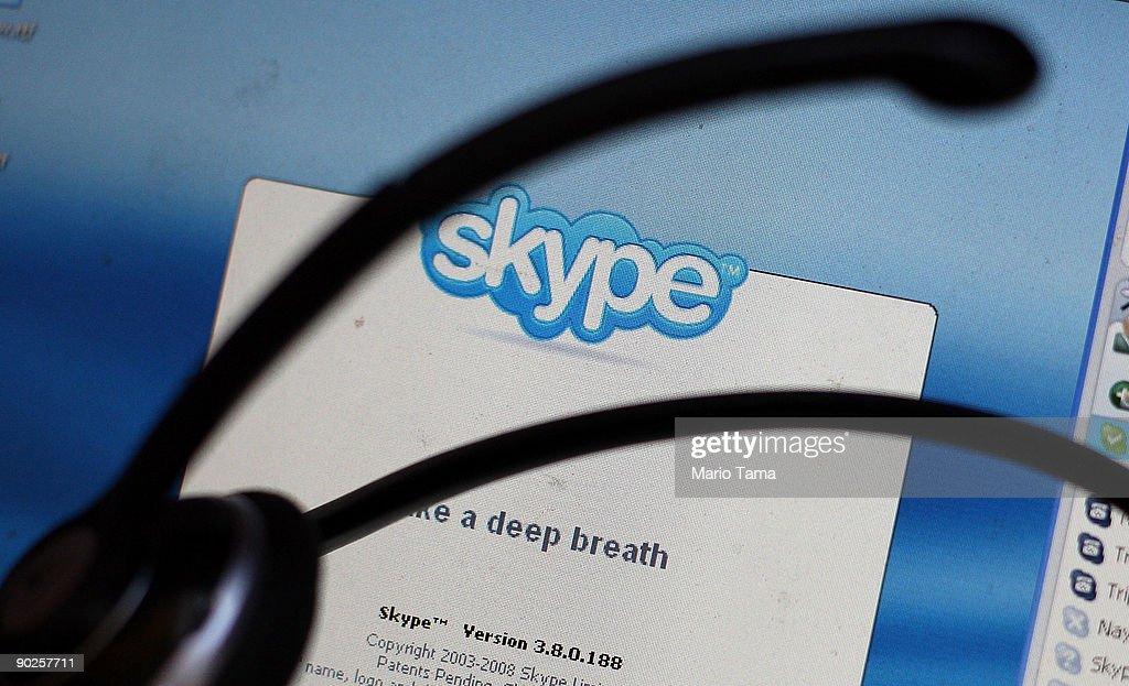 In this photo illustration, the Skype internet phone program is seen September 1, 2009 in New York City. EBay announced it will sell most of its Skype online phone service to a group of investors for $1.9 billion, a deal that values Skype at $2.75 billion.