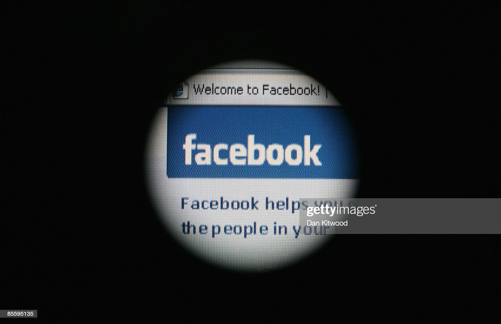 In this photo illustration the Social networking site Facebook is displayed on a laptop screen on March 25 2009 in London England The British...