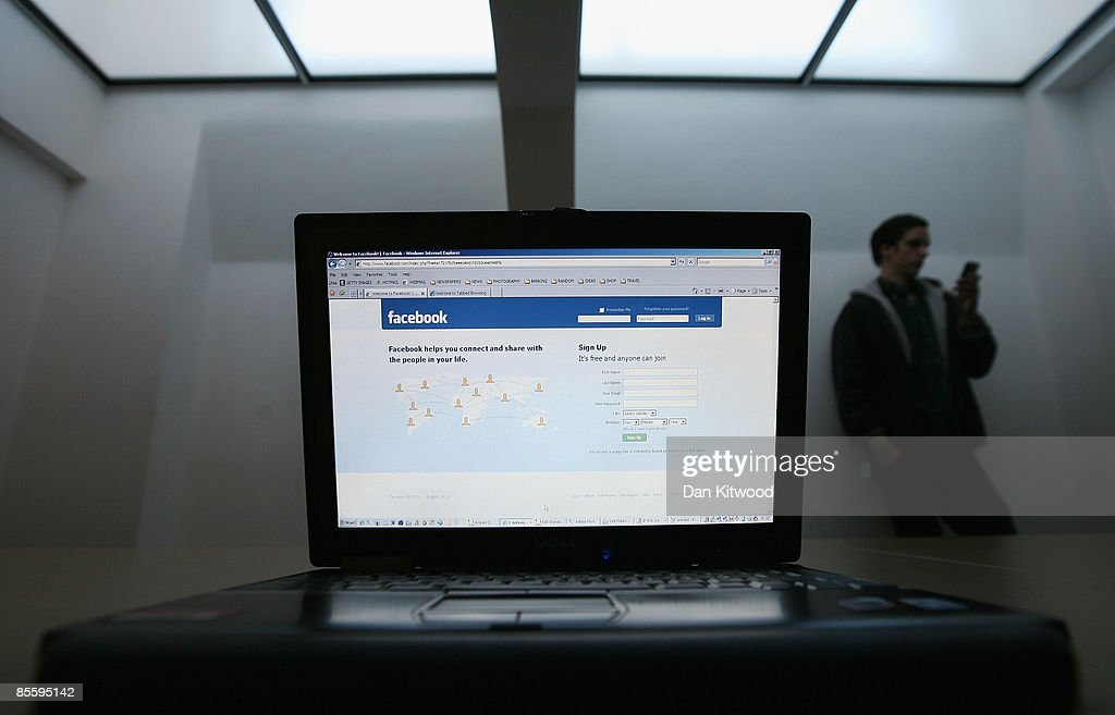 In this photo illustration the Social networking site Facebook is displayed on a laptop screen on March 25, 2009 in London, England. The British government has made proposals which would force Social networking websites such as Facebook to pass on details of users, friends and contacts to help fight terrorism.