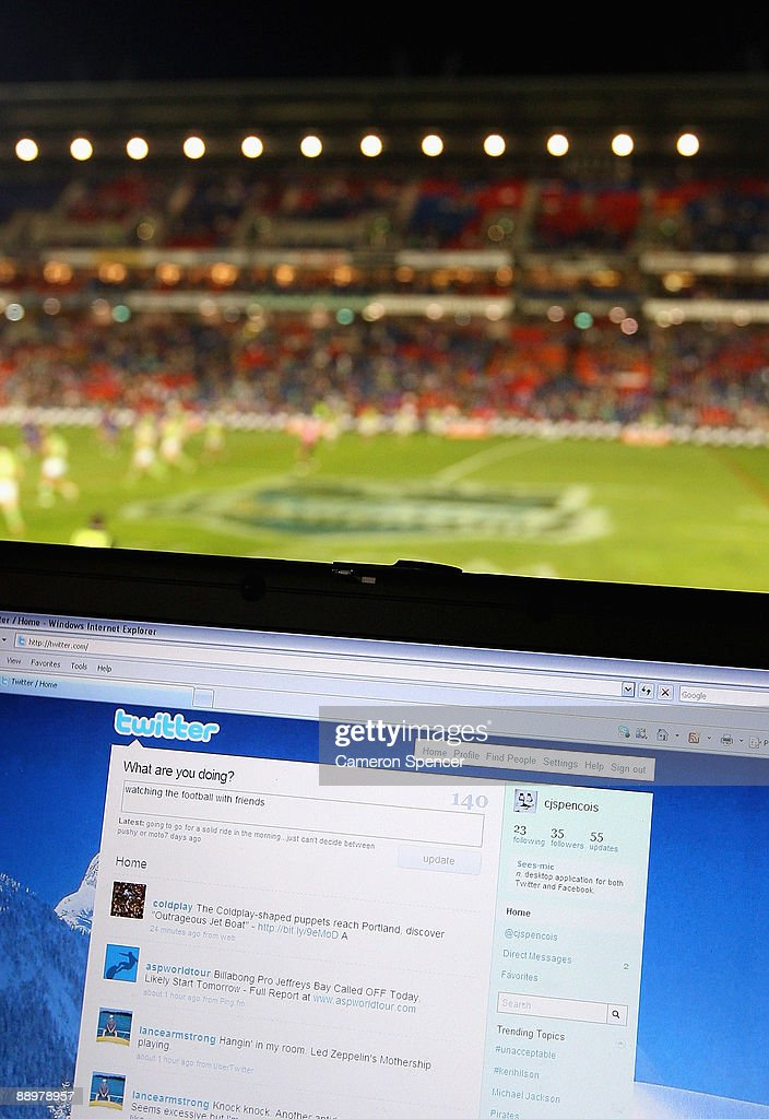 In this photo illustration the Twitter website is displayed on a laptop at a NRL match on July 11, 2009 in Newcastle, Australia. The micro-blogging phenomenon sees users post text 'tweets' of upto 140 characters in response to the question 'What are you doing?'.