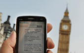 In this photo illustration the Twitter website is displayed on a mobile phone near Parliament on July 2 2009 in London The social network site...