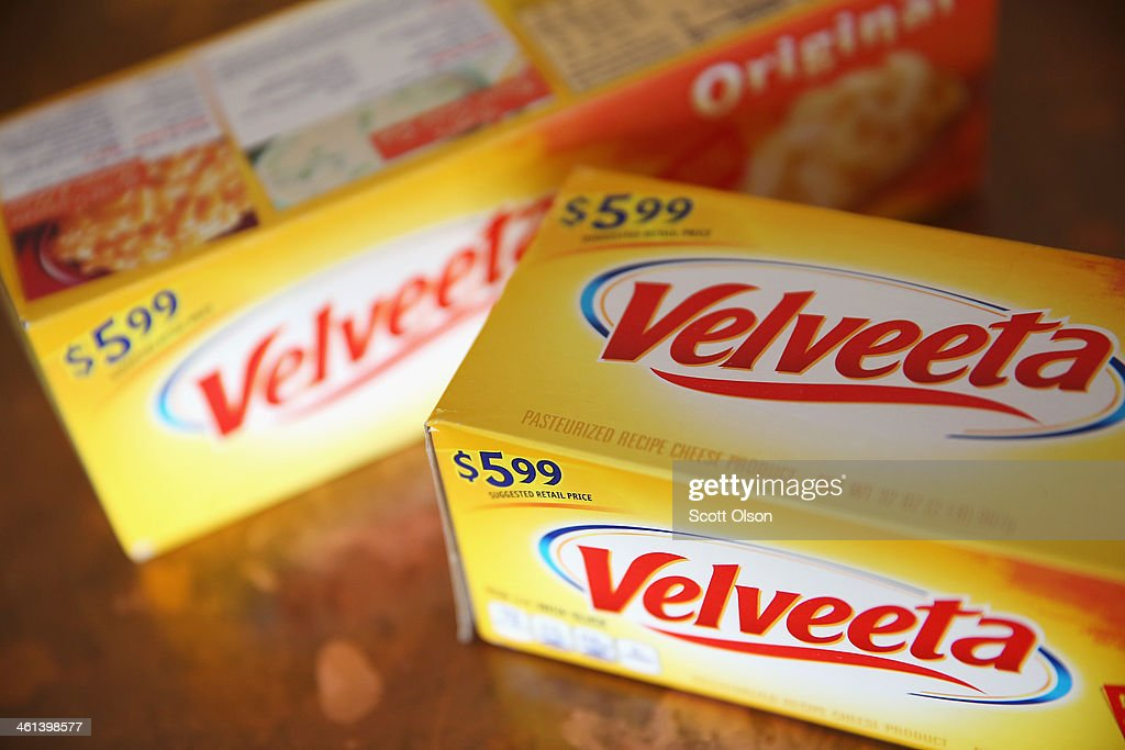 In this photo illustration, Velveeta cheese is shown on January 8, 2014 in Chicago, Illinois. Kraft Foods, the maker of Velveeta, says there is a shortage of the cheese product in some areas.