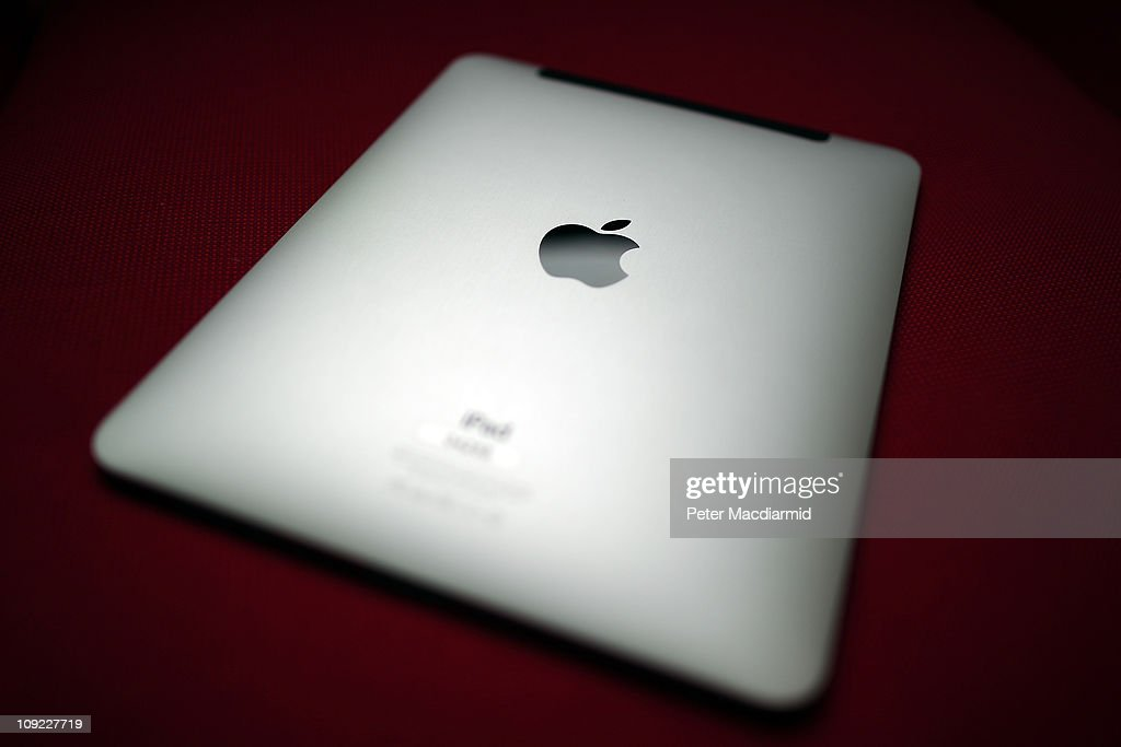 In this photo illustrationA view of the back of an Apple ipad tablet shows it's Apple logo on February 17 2011 in London England Apple sold two...