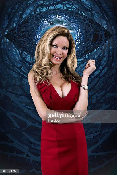 In this photo provided by Channel 5 Celebrity Big Brother 2015 housemate Alicia Douvall poses for a photo ahead of the launch of the Channel 5...