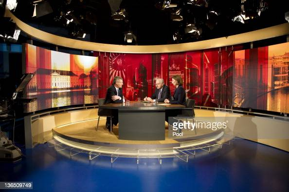 In this photo provided by the German Government Press Office German President Christian Wulff during a television interview with TV reporter Bettina...