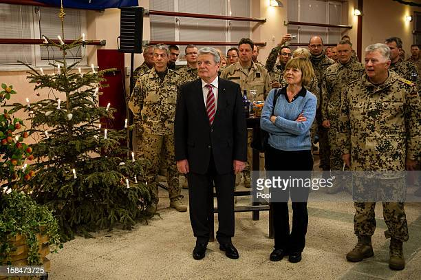 In this photo provided by the German Government Press Office German President Joachim Gauck is seen with his partner and journalist Daniela Schadt...