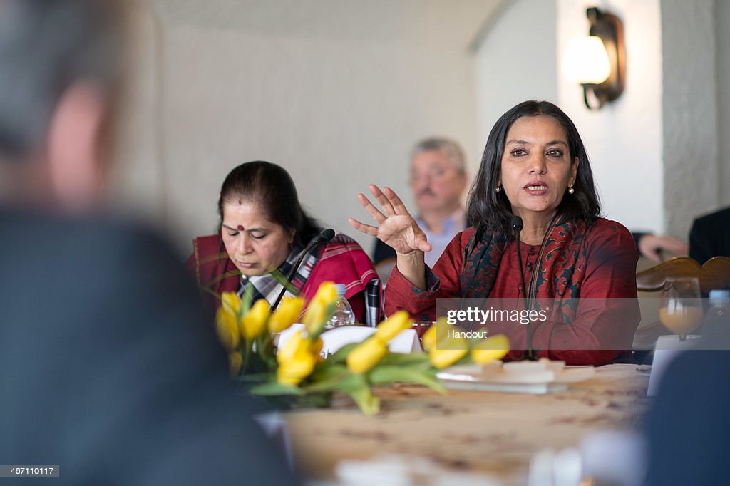 In this photo provided by the German Government Press Office (BPA), German President Joachim Gauck meets <a gi-track='captionPersonalityLinkClicked' href=/galleries/search?phrase=Shabana+Azmi&family=editorial&specificpeople=565786 ng-click='$event.stopPropagation()'>Shabana Azmi</a>, a popular Indian actress and human rights activist to discuss the role of women in India on February 6, 2014 in New Delhi, India. Gauck is in India for an official six day visit.
