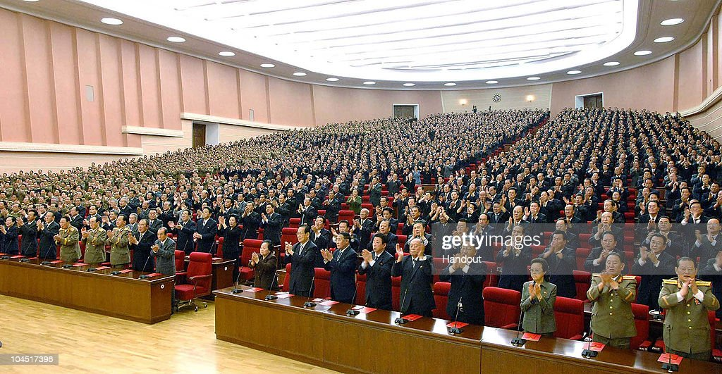 In this photo released by Korean Central News Agency via Korean News Service Workers' Party of Korea delegates including Kim KyongHui who is sister...