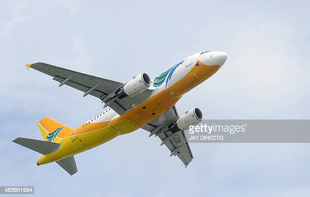 In this photo taken August 11 a Cebu Pacific jet takes off from Manila airport The country's pioneer budget carrier said on August 14 net profit for...