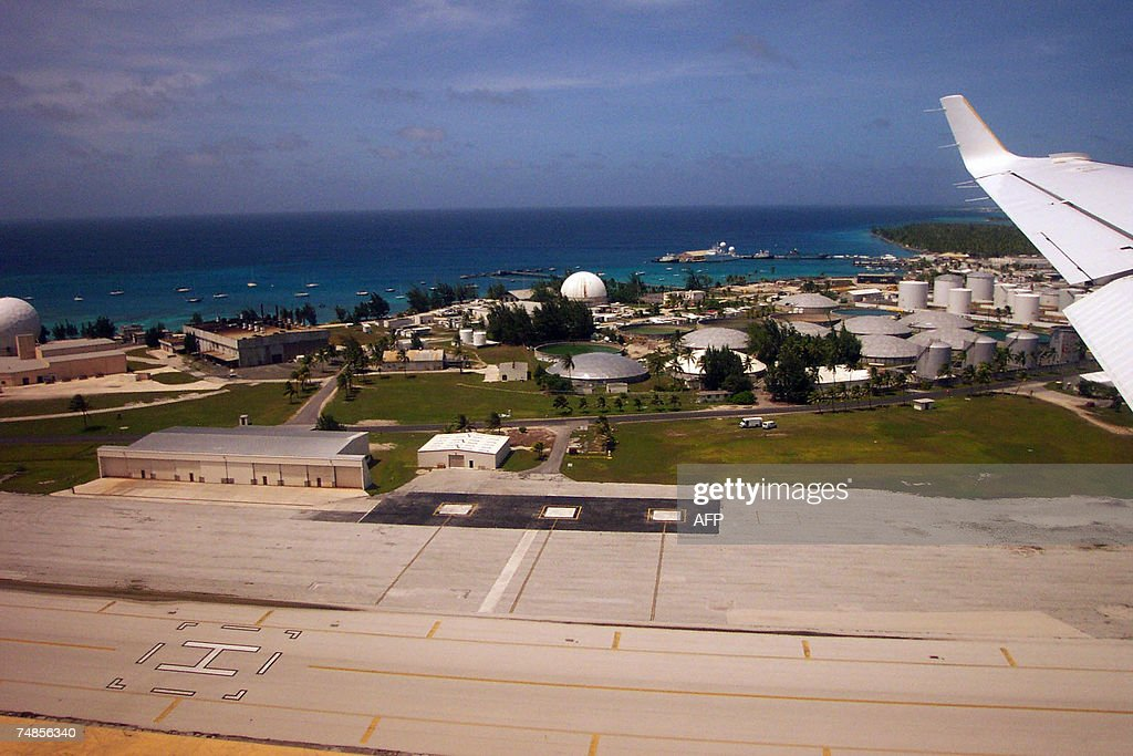 In this photo taken in 2006 shows the US Army's Kwajalein missile testing range in Kwajalein Atoll The future of a US missile testing range in the...