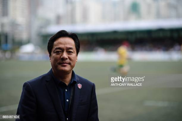 In this photo taken on April 6 Wang Liwei president of the Chinese Rugby Football Association poses for AFP in Hong Kong Rugby can grow from a niche...