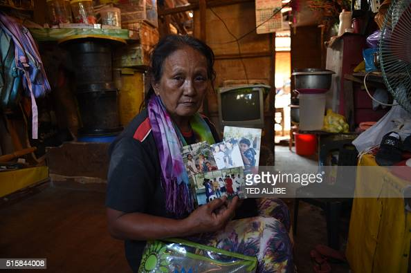 In this photo taken on February 18 2016 shows Clarita Alia 62yearold who lost four sons to what she and human rights groups believe were the death...