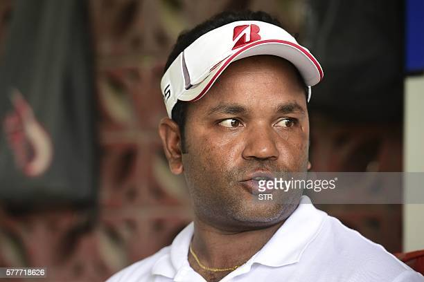 In this photo taken on July 13 Bangladeshi golfer Siddikur Rahman speaks during an interview during a practice session at the Kurmitola Golf Club in...
