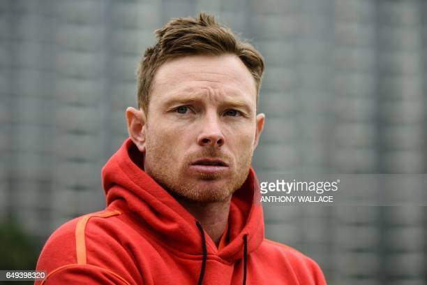 In this photo taken on March 7 English cricketer Ian Bell who is playing with local team Hong Kong Island United at the 2017 DTC Hong Kong T20 Blitz...