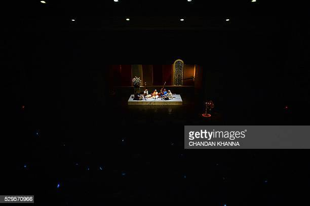 In this photograph taken late May 8 Indian musician Girija Devitakes part in a performance marking her 87th birthday in New Delhi Devi made her...