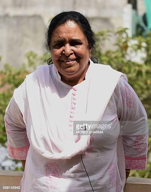 In this photograph taken on April 28 Sadia Akhtara Madhya Pradesh convenor of Bharatiya Muslim Mahila Andolan a charity that works on the issue of...