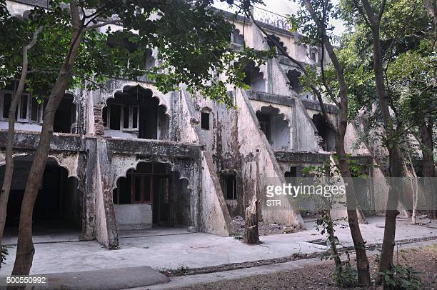 In this photograph taken on December 8 dwellings are pictured at the Beatles ashram as the former ashram of the selfstyled guru Maharishi Mahesh Yogi...