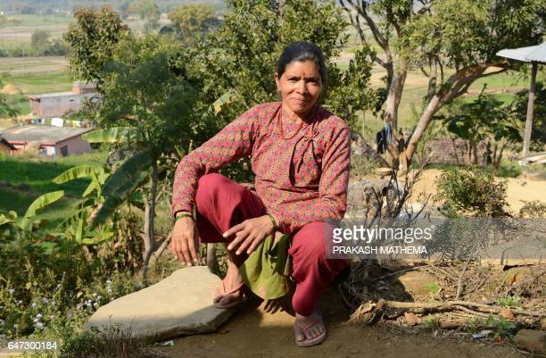 In this photograph taken on February 2 Nepalese woman Khagisara Regmi talks with AFP in Surkhet District some 520km west of Kathmandu The practice of...