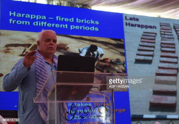In this photograph taken on February 9 professor of anthropology at the University of Wisconsin and authority on the Indus Civilisation Jonathan Mark...