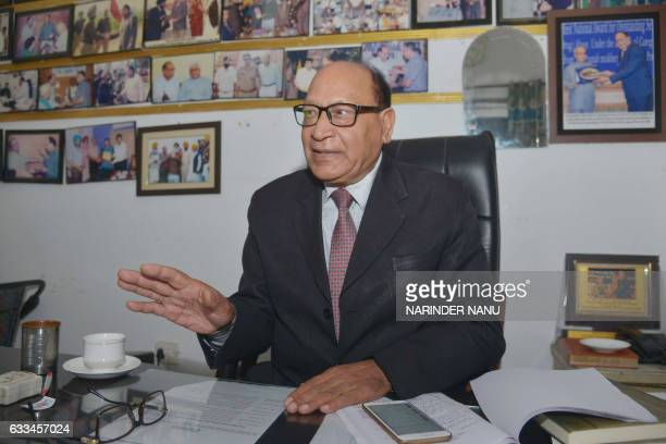 In this photograph taken on January 24 Indian manager Romesh Mahajan speaks during an interview with AFP at the Red Cross Integrated and...