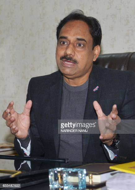 In this photograph taken on January 25 Indian Inspector General of Police Counter Intelligence MF Farooqui speaks during an interview with AFP at his...