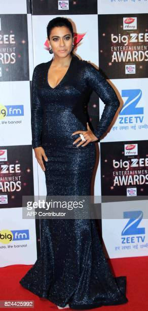 In this photograph taken on July 29 Indian Bollywood actress Kajol Devgan attends the BIG ZEE Entertainment Awards 2017 ceremony in Mumbai / AFP...