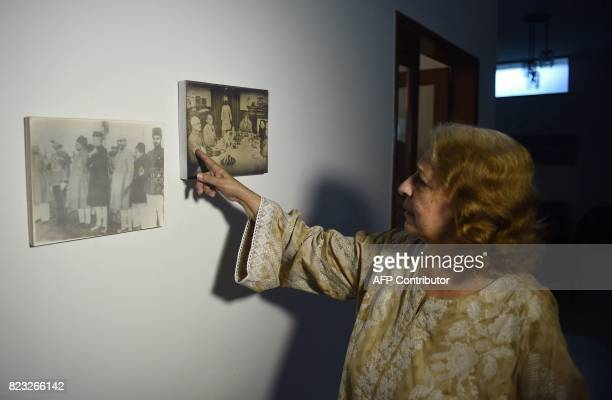 In this photograph taken on June 7 Pakistani woman Jamshed Jahan Ara who migrated to Pakistan at the time of partition in 1947 at the age of six...