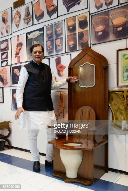 In this photograph taken on November 15 founder of sanitation charity Sulabh International Bindeshwar Pathak speaks during an interview with AFP as...