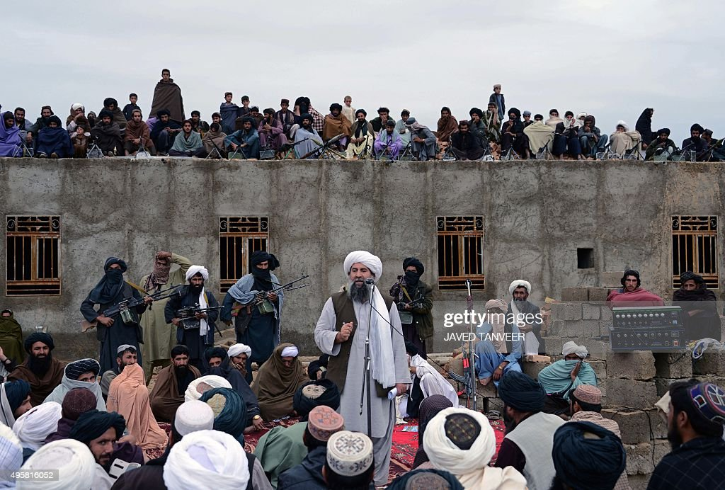In this photograph taken on November 3 Mullah Abdul Manan Neyazi a deputy of Mullah Mohammad Rasool Akhund the newly appointed leader of a breakaway...