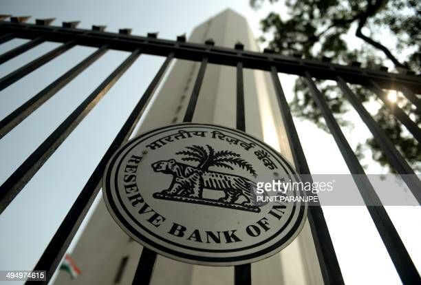 In this photograph taken on October 29 the facade of the Reserve Bank of India head office is pictured in Mumbai India's central bank holds its first...